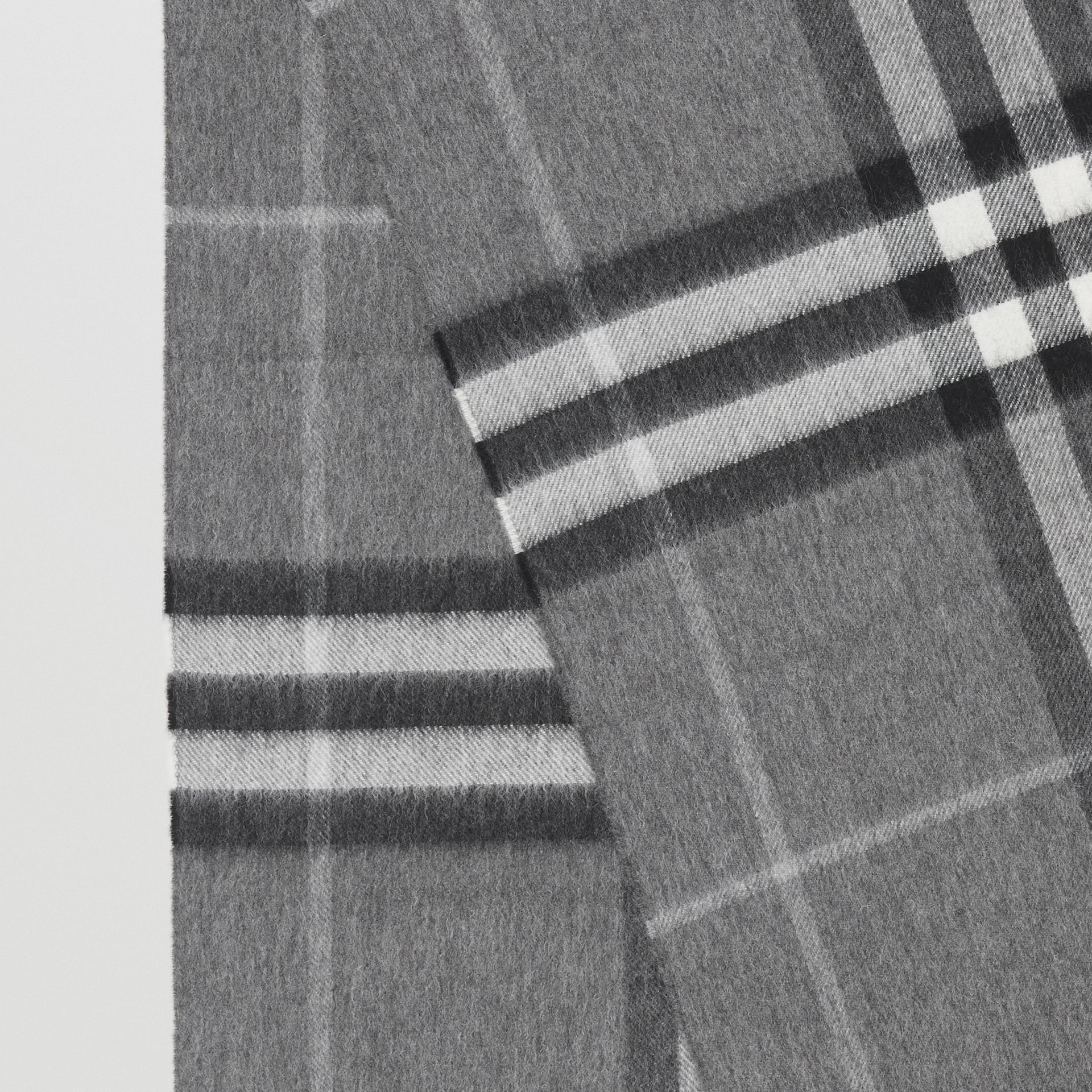 The Classic Check Cashmere Scarf in Grey | Burberry - gallery image 1