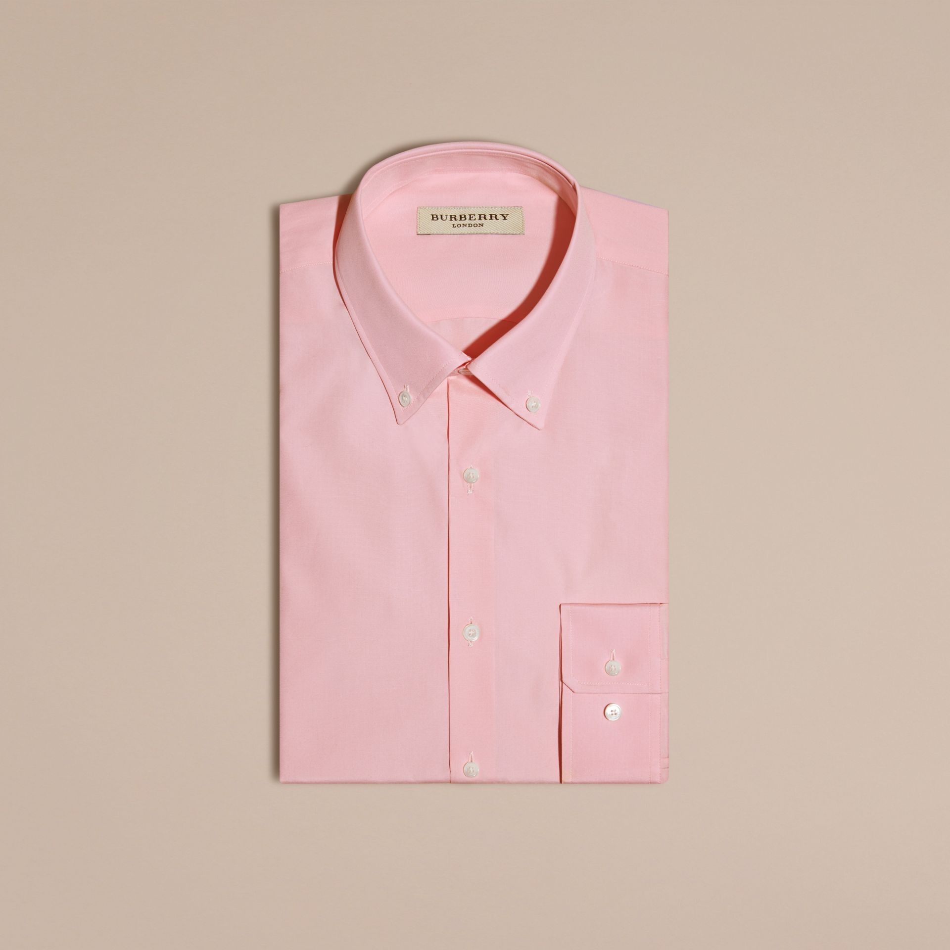 City pink Slim Fit Button-down Collar Cotton Poplin Shirt City Pink - gallery image 4