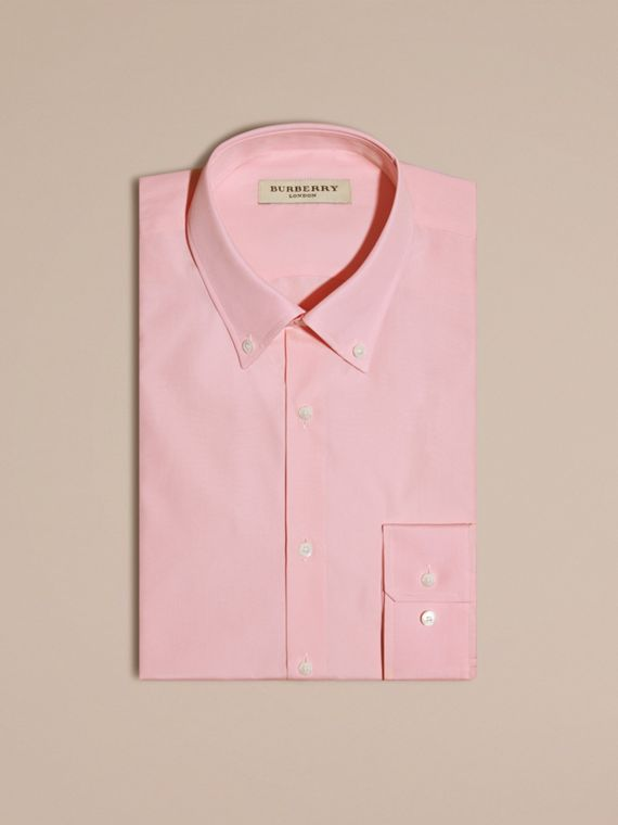 City pink Slim Fit Button-down Collar Cotton Poplin Shirt City Pink - cell image 3