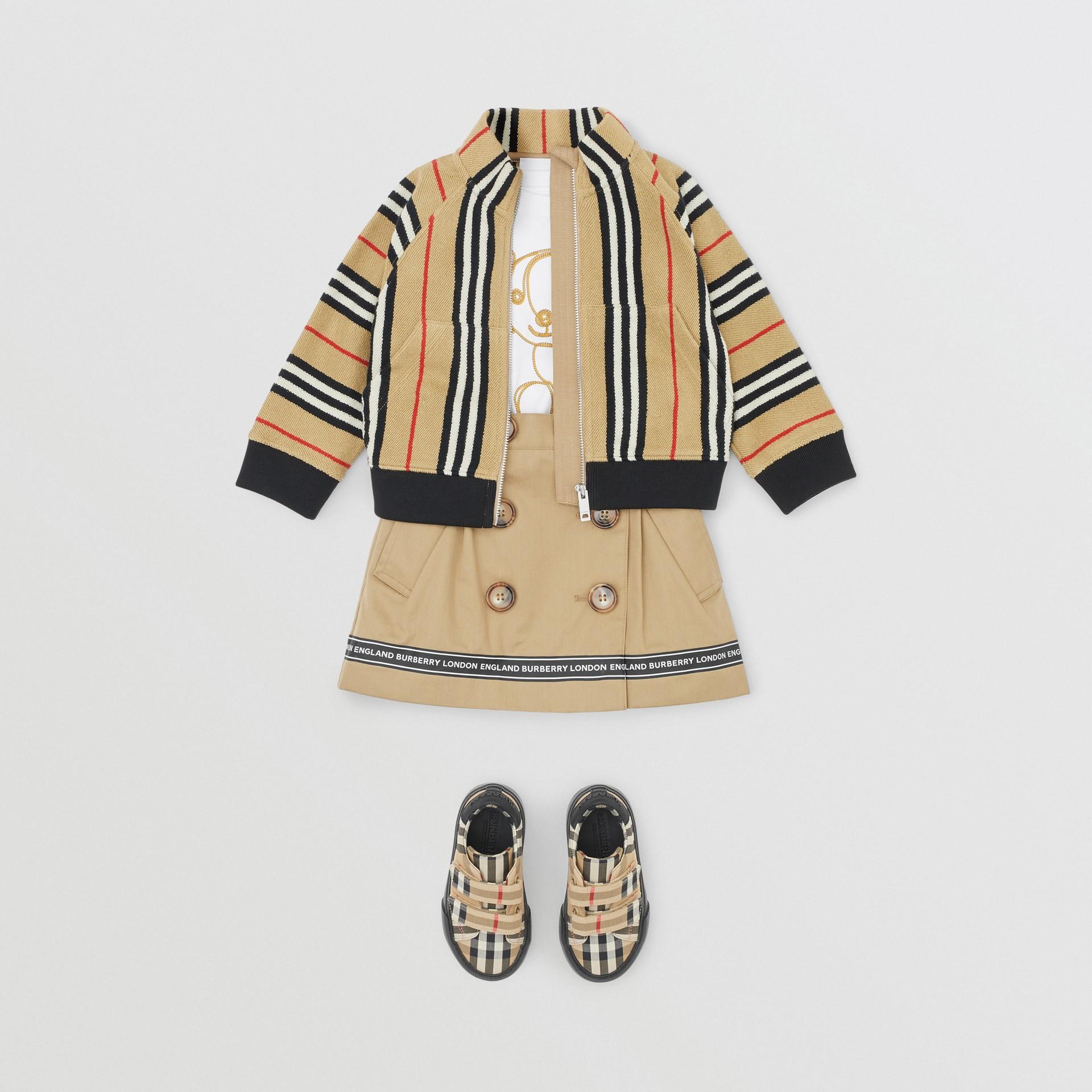 Icon Stripe Cotton Track Top in Archive Beige - Children   Burberry United Kingdom - gallery image 2
