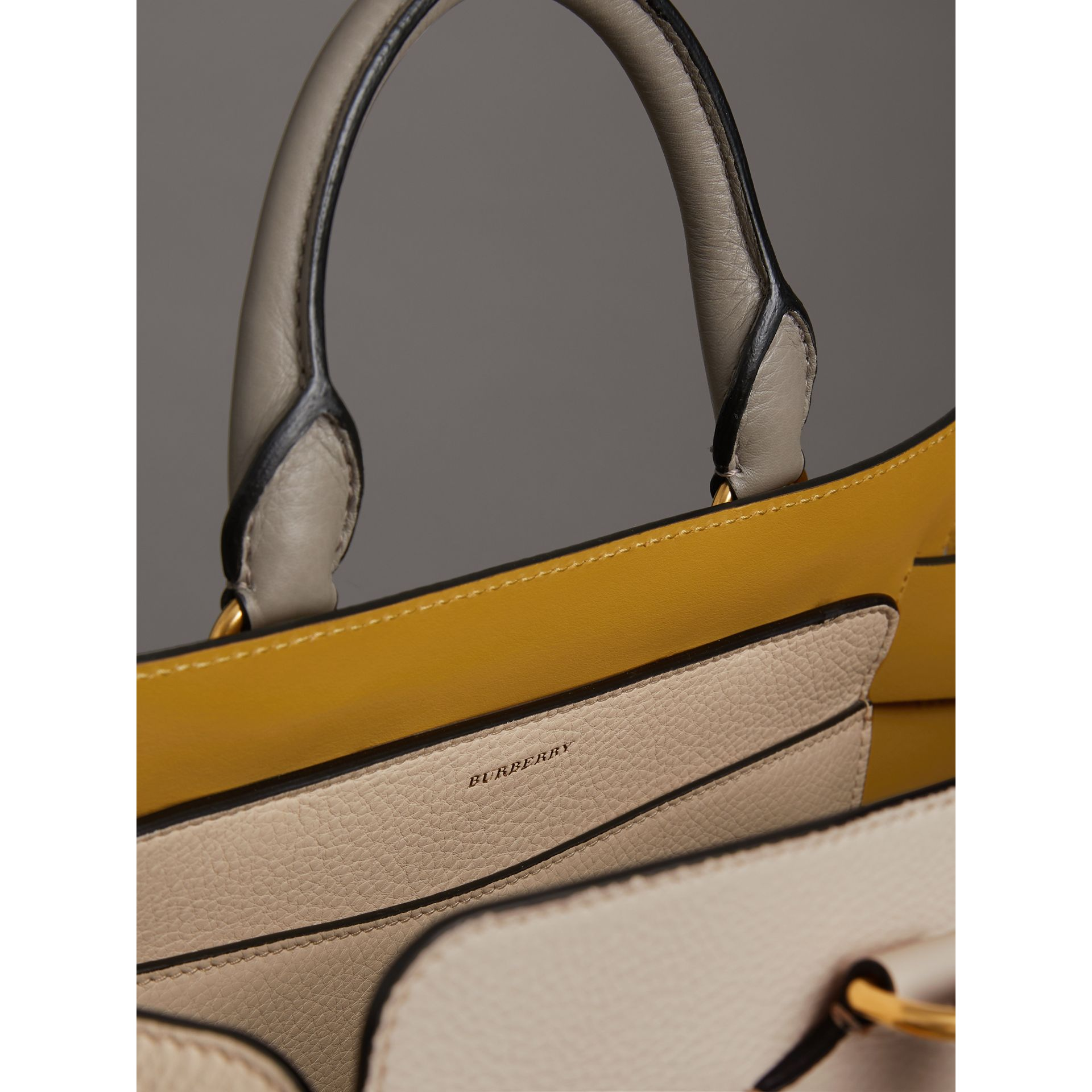 The Medium Tri-tone Leather Belt Bag in Limestone/cornflower Yellow - Women | Burberry United Kingdom - gallery image 5