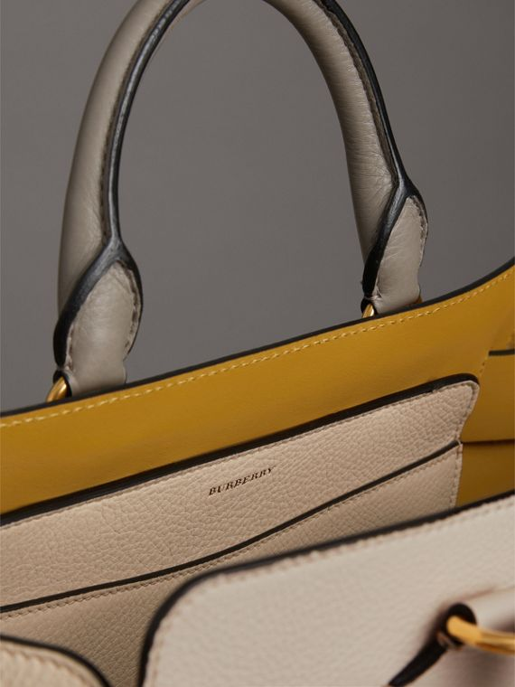 The Medium Tri-tone Leather Belt Bag in Limestone/cornflower Yellow - Women | Burberry United Kingdom - cell image 3