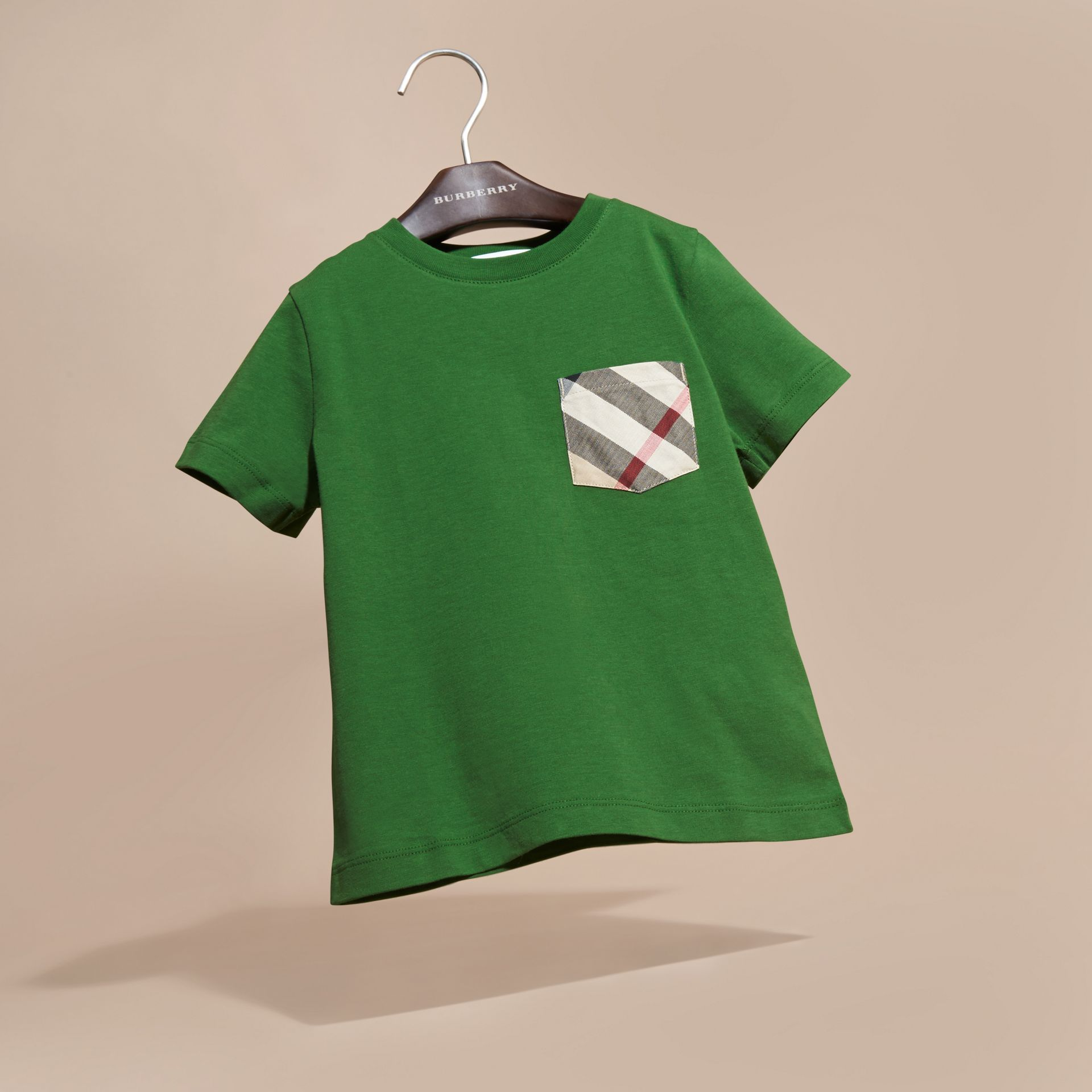 Bright fern green Check Pocket T-Shirt Bright Fern Green - gallery image 3