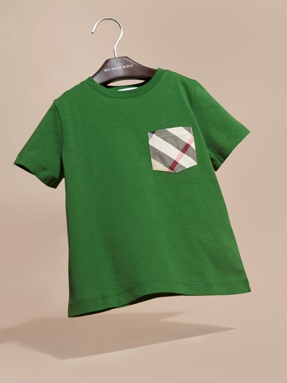 Bright fern green Check Pocket T-Shirt Bright Fern Green - cell image 2