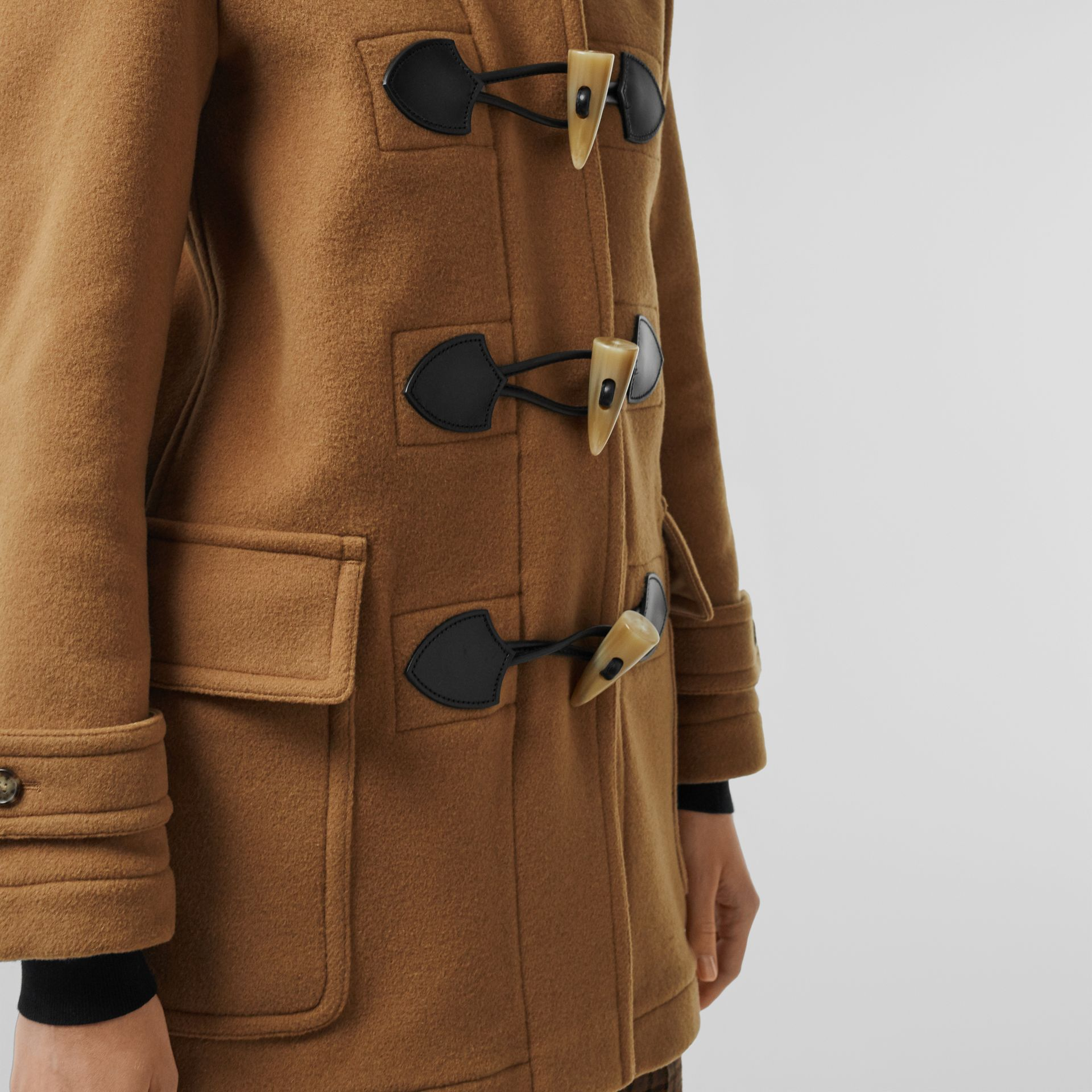 Wool Blend Duffle Coat in Camel - Women | Burberry United Kingdom - gallery image 3