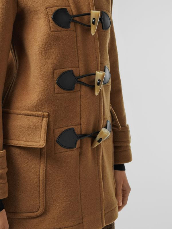 Wool Blend Duffle Coat in Camel - Women | Burberry United Kingdom - cell image 3