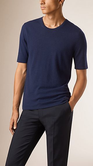 Mid-length Sleeve Cashmere T-shirt