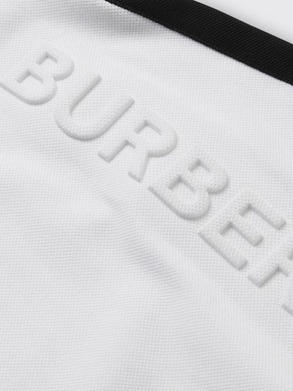Embossed Logo Cotton Polo Dress in White - Children | Burberry - cell image 1