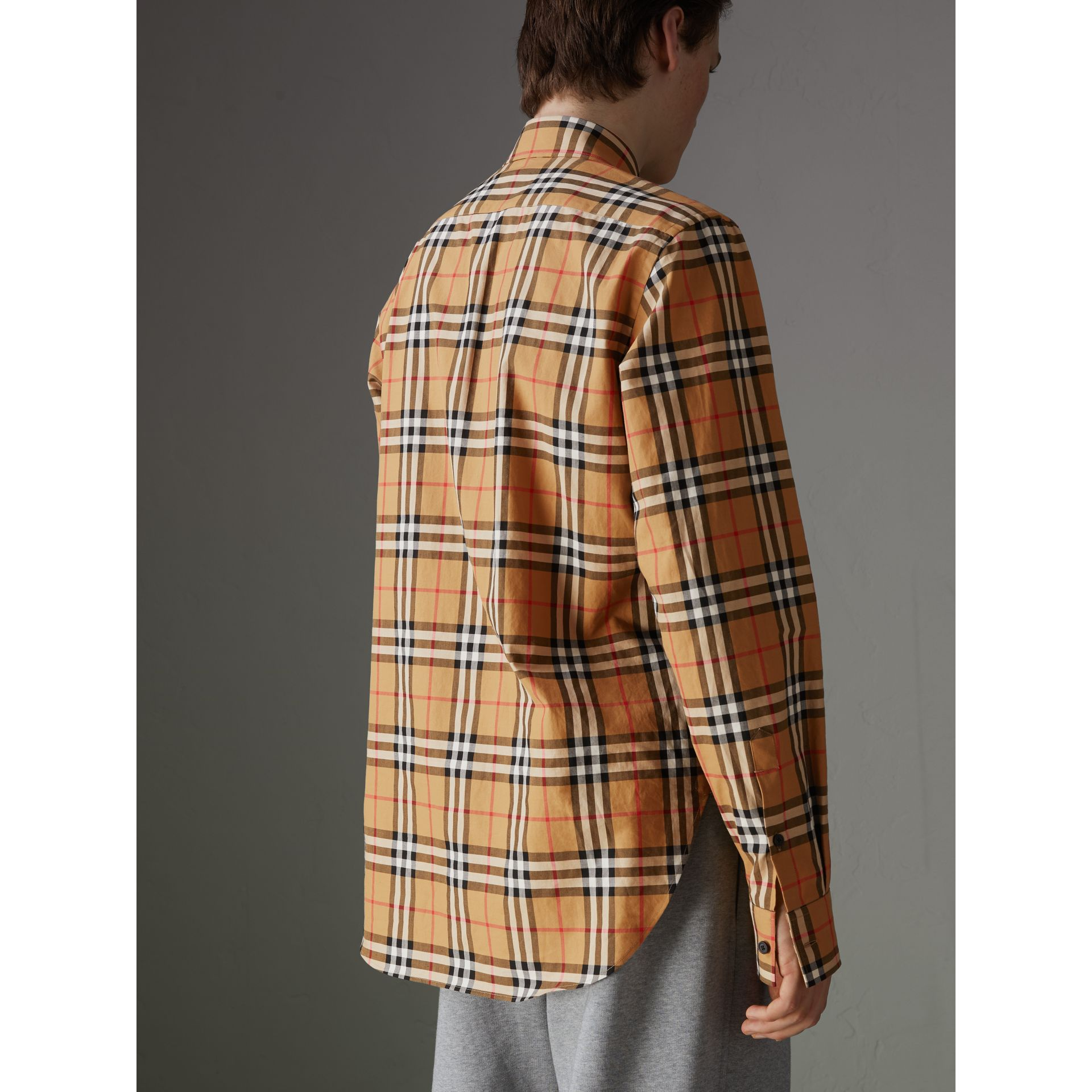 Rainbow Vintage Check Shirt in Antique Yellow - Men | Burberry United States - gallery image 2