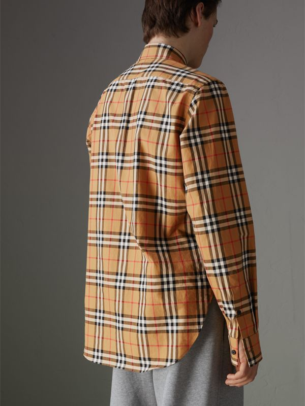 Rainbow Vintage Check Shirt in Antique Yellow - Men | Burberry United States - cell image 2