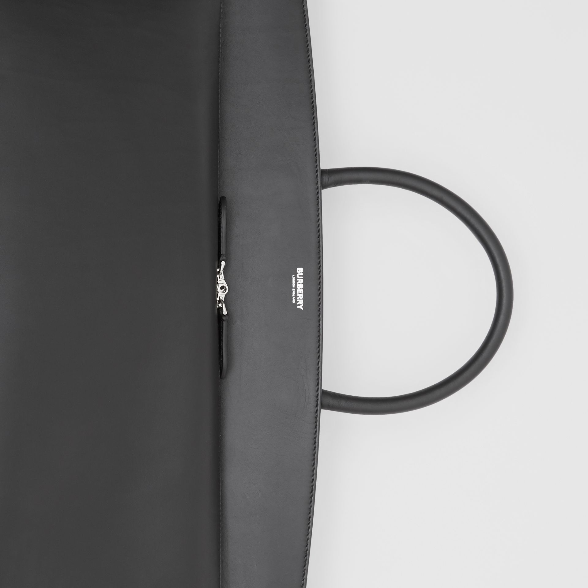Extra Large Leather Society Top Handle Bag in Black - Men | Burberry Canada - gallery image 1