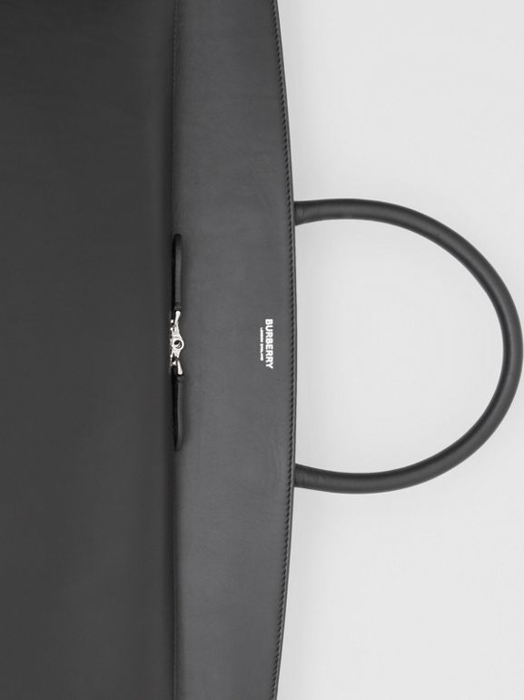 Extra Large Leather Society Top Handle Bag in Black - Men | Burberry United Kingdom - cell image 1