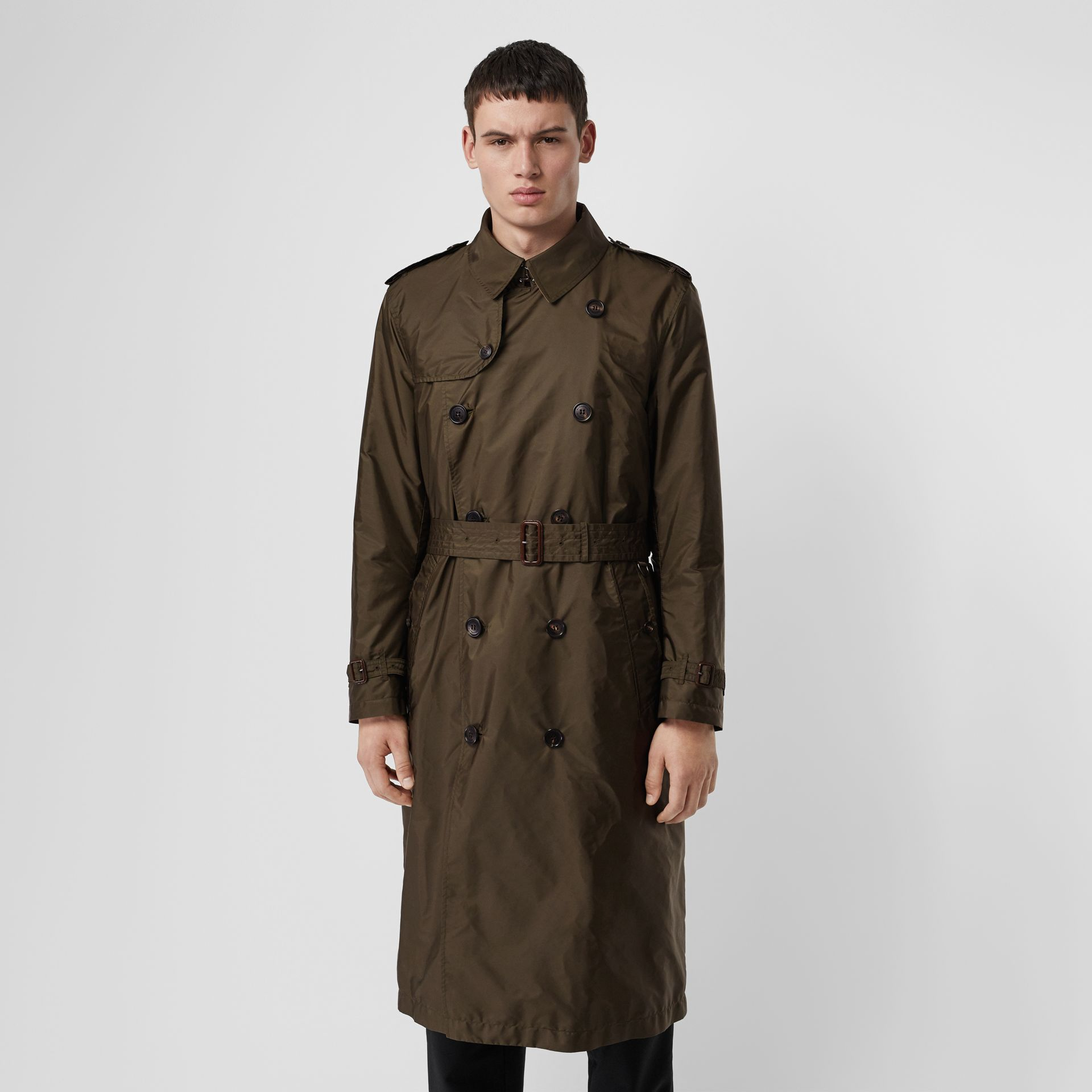 Lightweight Nylon Trench Coat in Military Green - Men | Burberry - gallery image 5