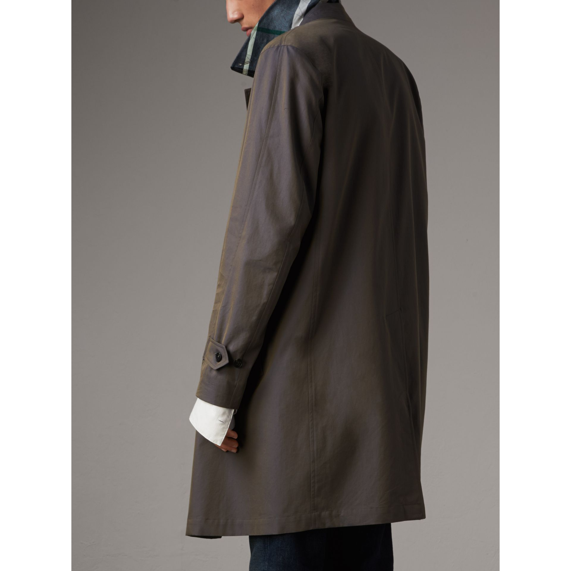 Tropical Gabardine Car Coat in Storm Blue - Men | Burberry - gallery image 3