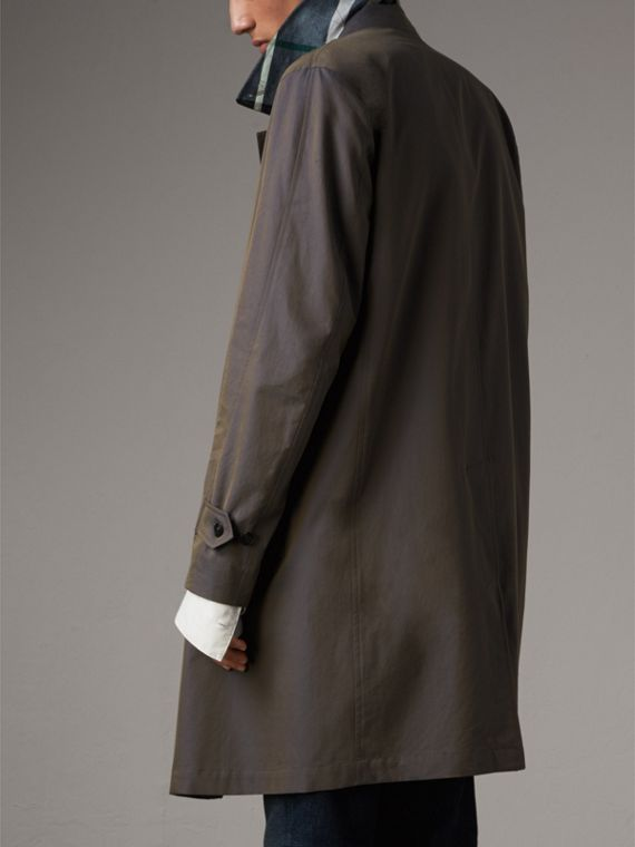 Tropical Gabardine Car Coat in Storm Blue - Men | Burberry Singapore - cell image 2