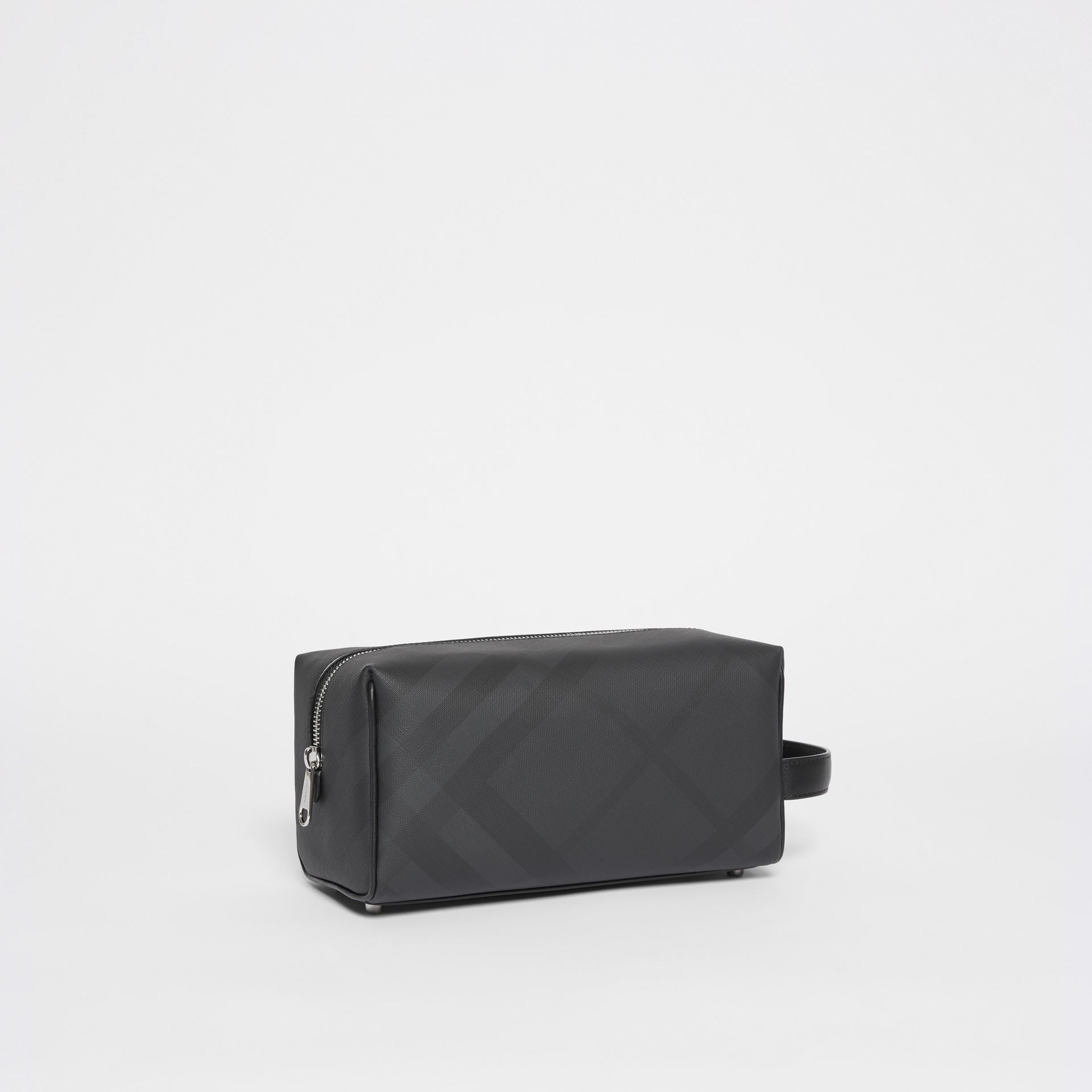 Pochette en cuir London Check (Anthracite Sombre) - Homme | Burberry Canada - photo de la galerie 6