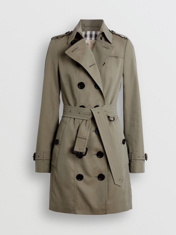 Тренч Sandringham из габардина (Зеленый Мел) - Для женщин | Burberry - cell image 3