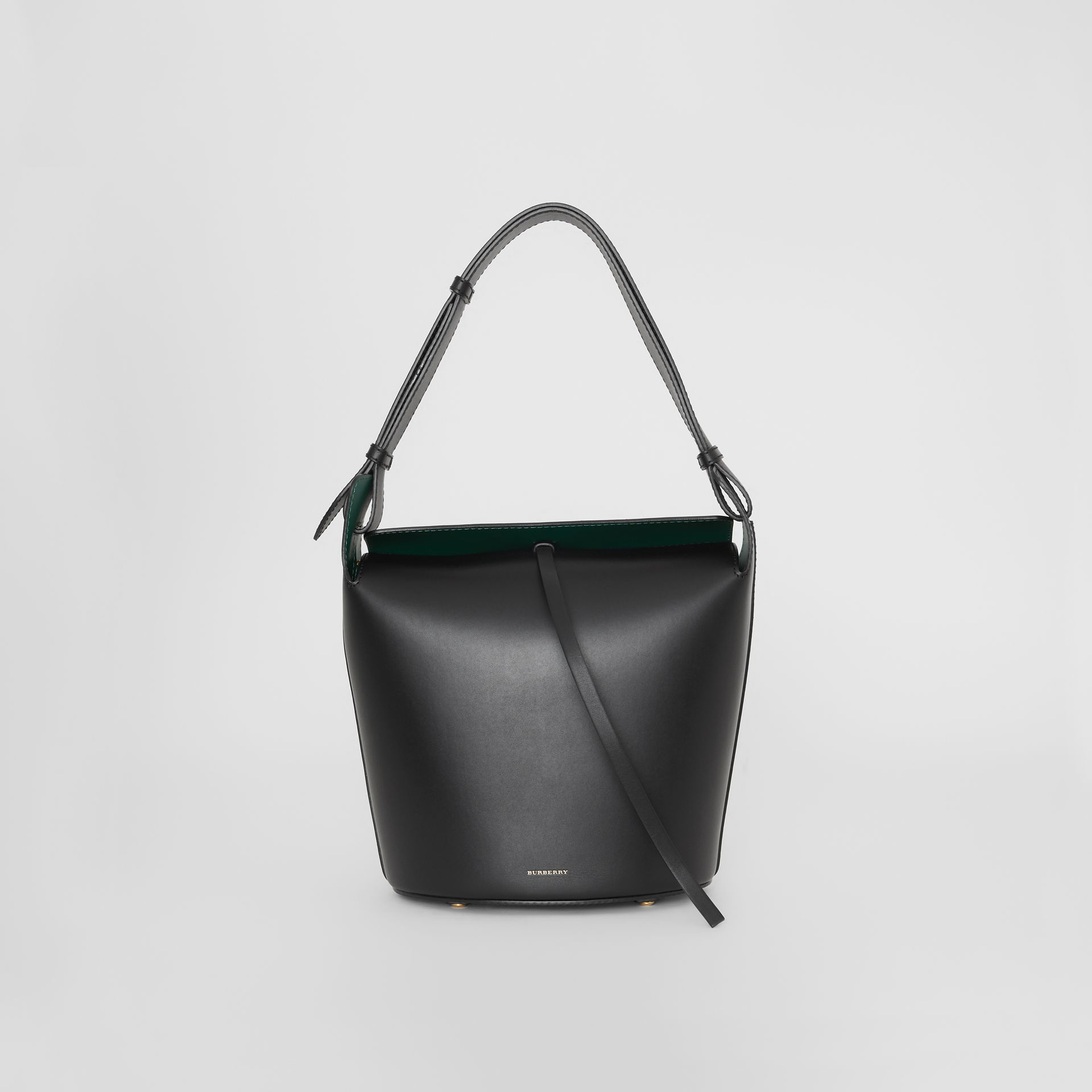 Sac The Bucket moyen en cuir (Noir) - Femme | Burberry - photo de la galerie 0