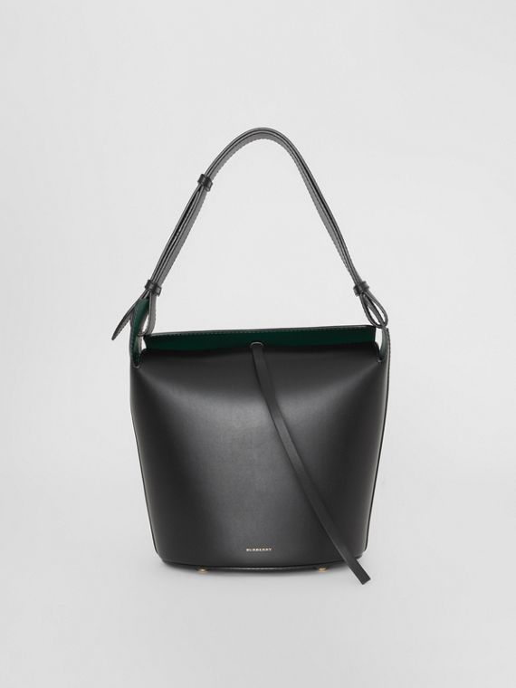 The Medium Leather Bucket Bag in Black