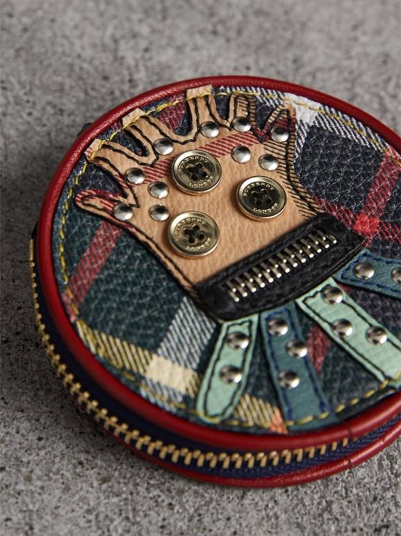 Porta-moedas de couro com motivo Creature (Verde Bandeira Escuro) - Homens | Burberry - cell image 1