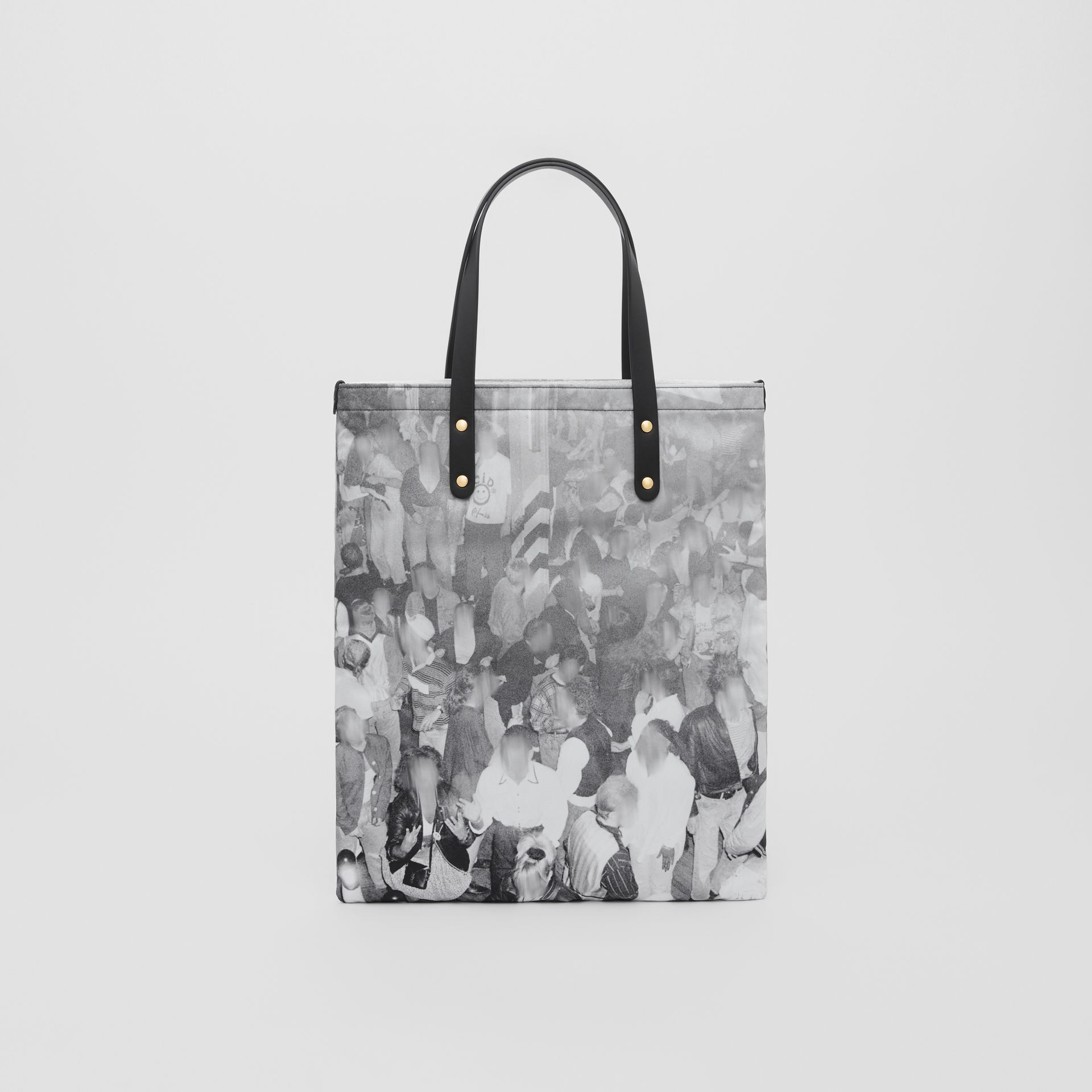 Rave Print Nylon Tote Bag in Black | Burberry - gallery image 8