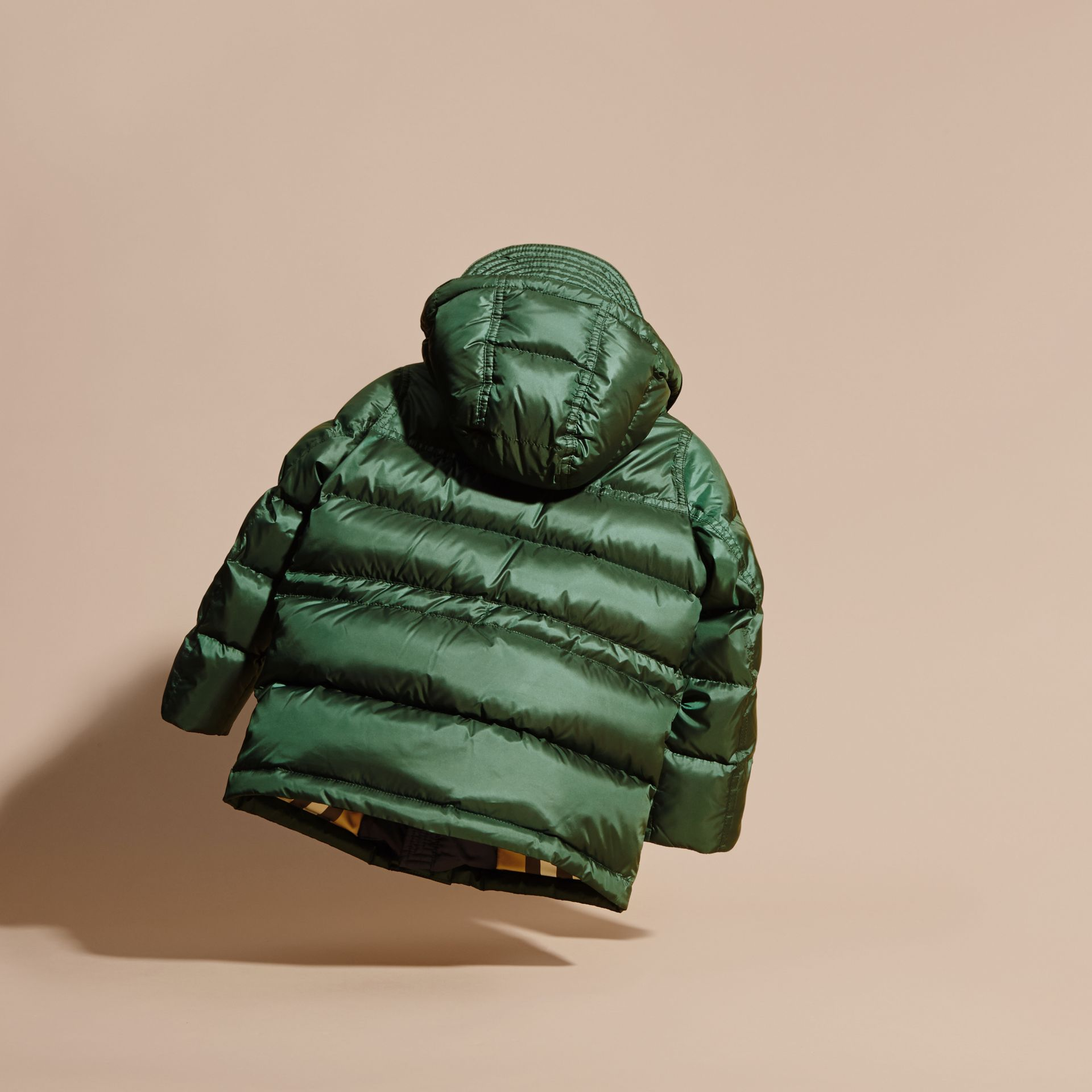 Deep bottle green Down-Filled Hooded Puffer Coat Deep Bottle Green - gallery image 4