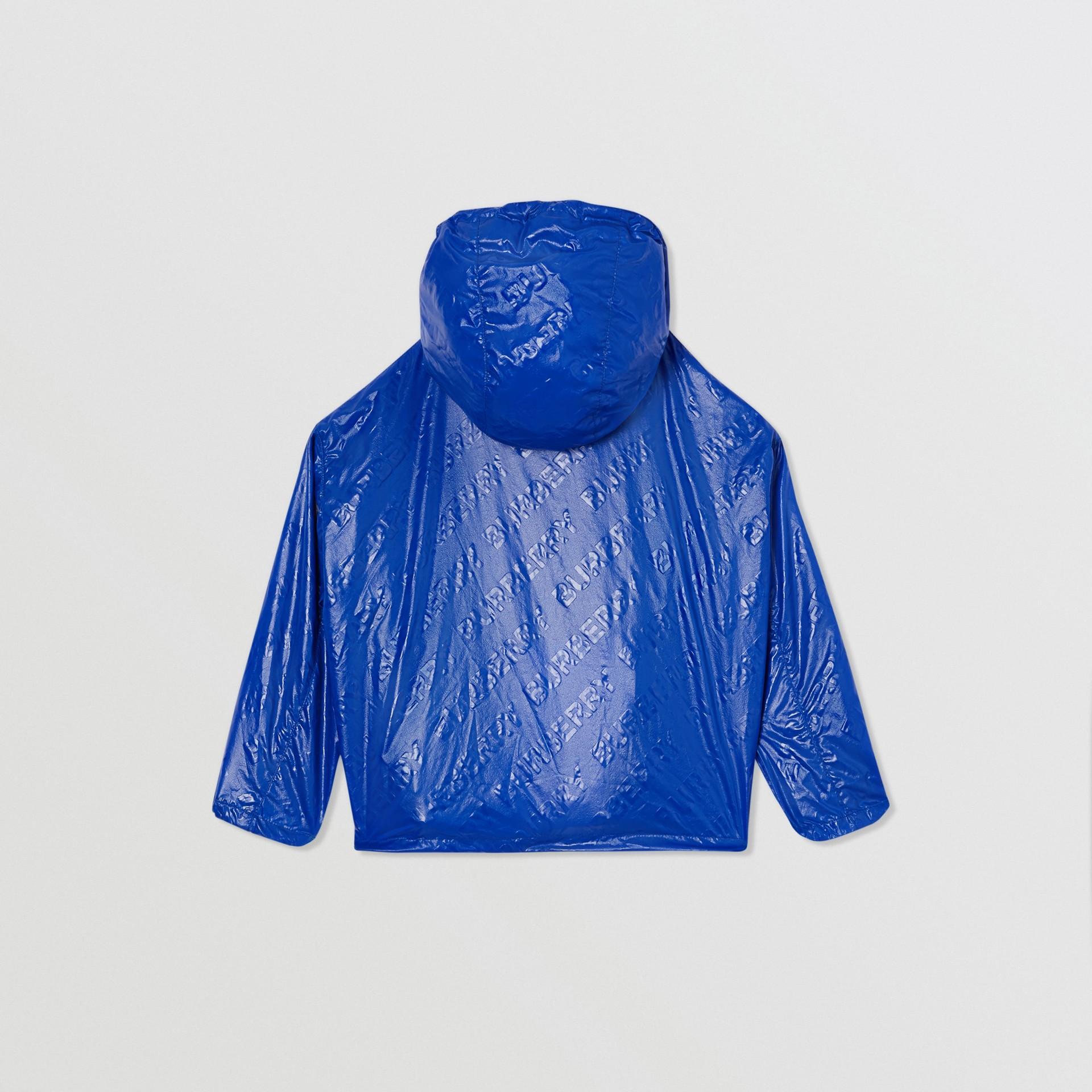 Logo Print Lightweight Hooded Jacket in Deep Cobalt | Burberry - gallery image 4