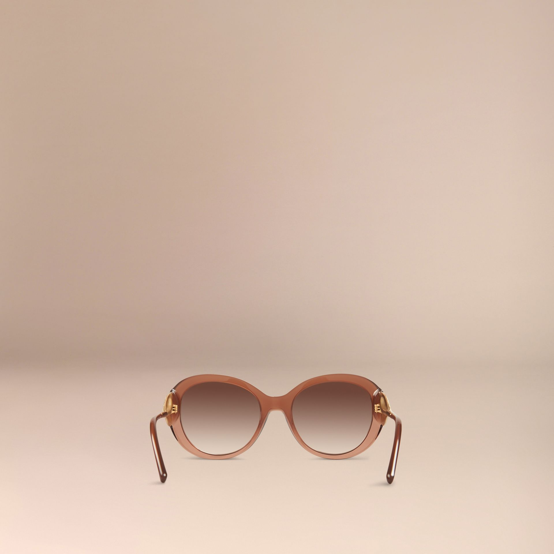 Fawn pink Oversize Round Frame Sunglasses - gallery image 4