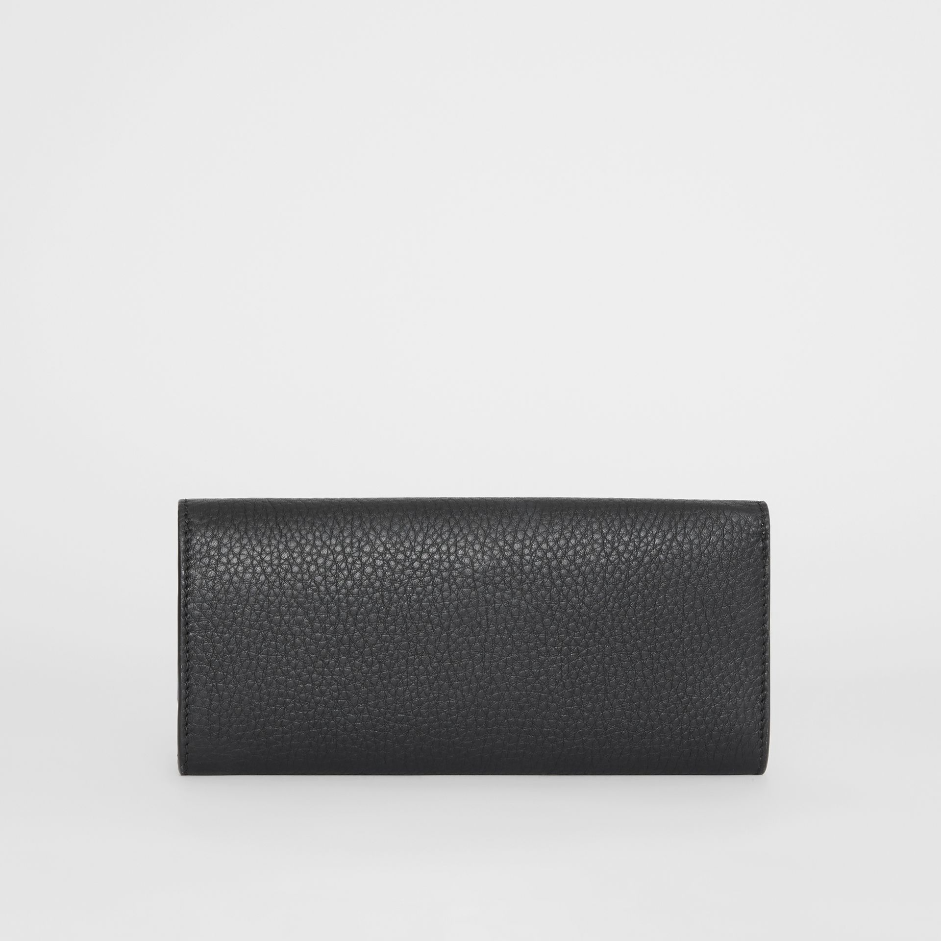 Grainy Leather Continental Wallet in Black - Women | Burberry - gallery image 5