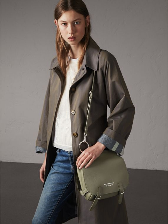 The Bridle Bag in Deerskin in Slate Green - Women | Burberry - cell image 3