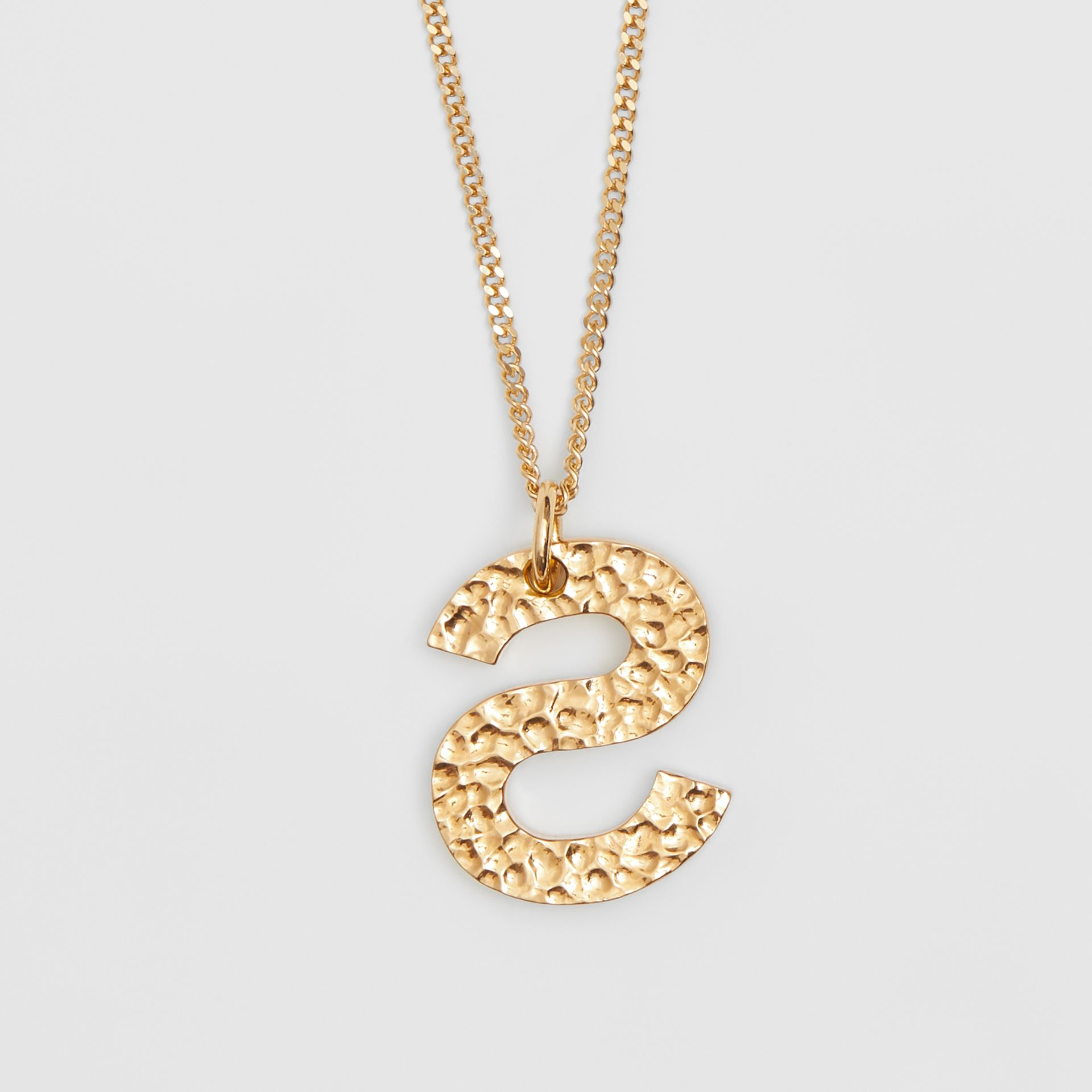 'S' Alphabet Charm Gold-plated Necklace in Light - Women | Burberry United Kingdom - gallery image 3