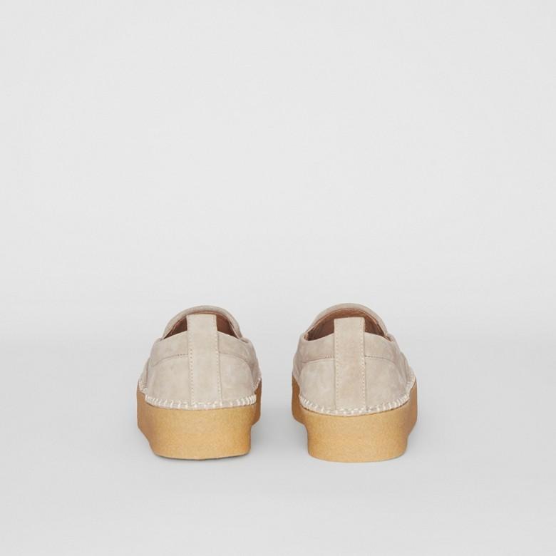 Burberry - Zapatillas deportivas sin cordones en ante - 5