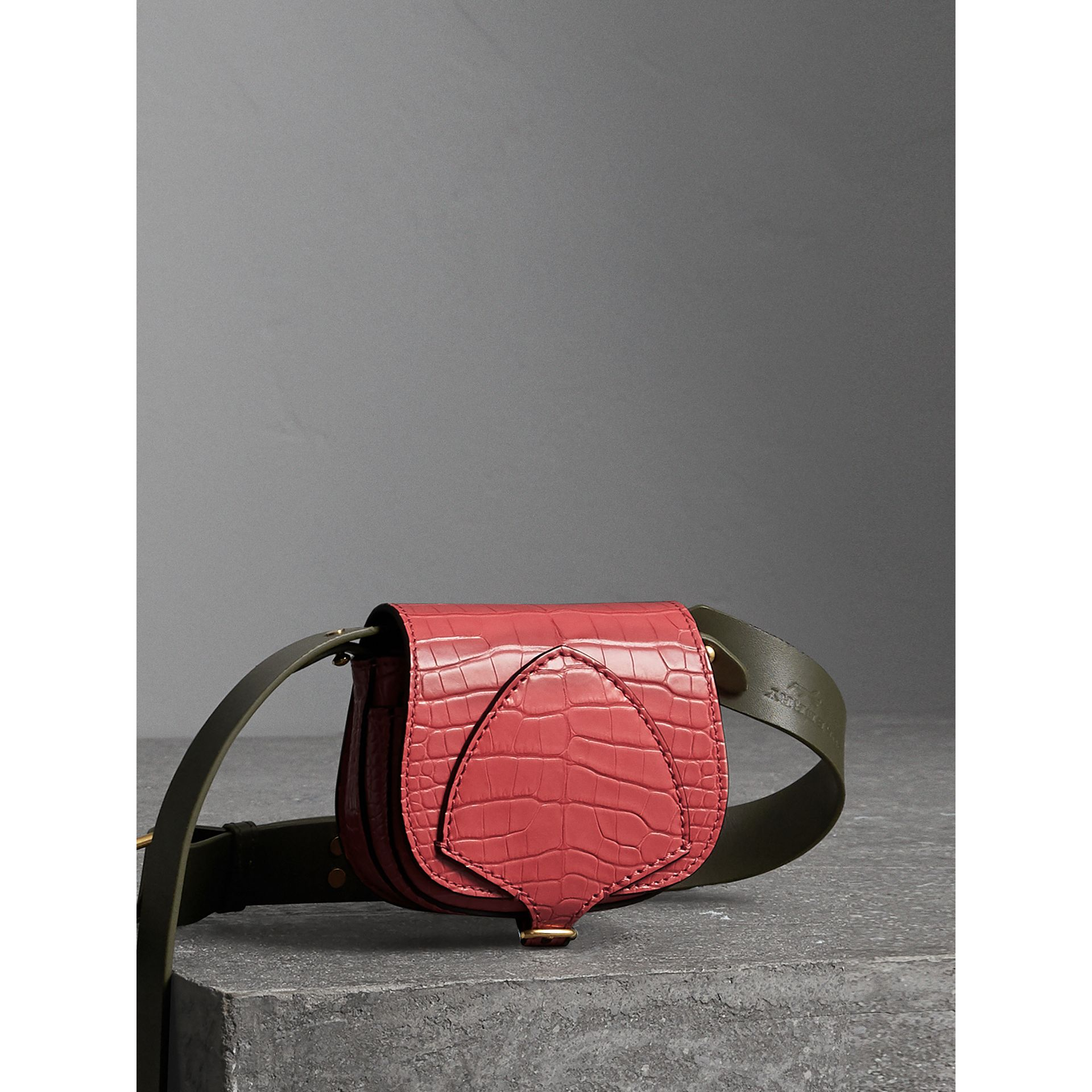 The Pocket Satchel in Alligator in Pink Azalea - Women | Burberry - gallery image 8
