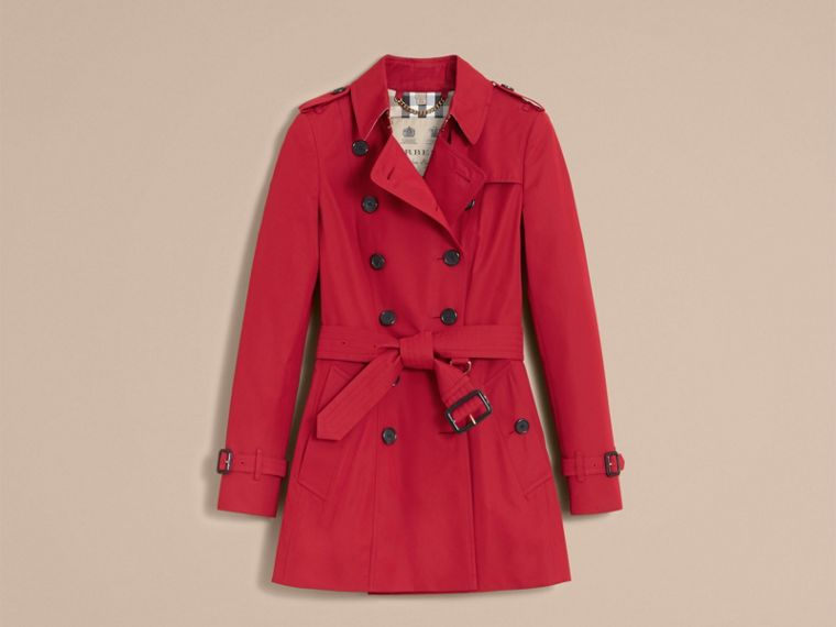 Parade red The Chelsea – Short Heritage Trench Coat Parade Red - cell image 4