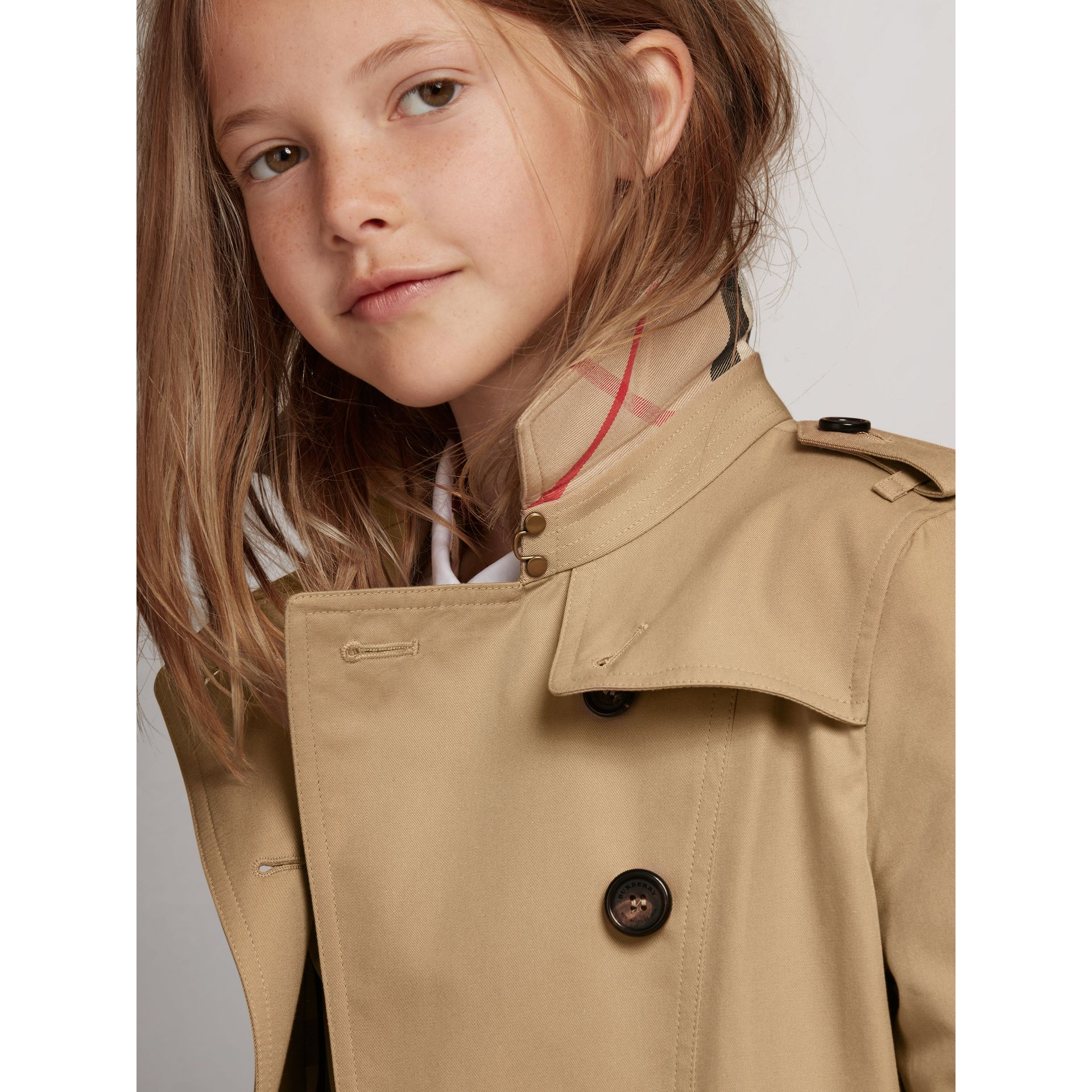 The Sandringham Trench Coat in Honey - Girl | Burberry United Kingdom - gallery image 1