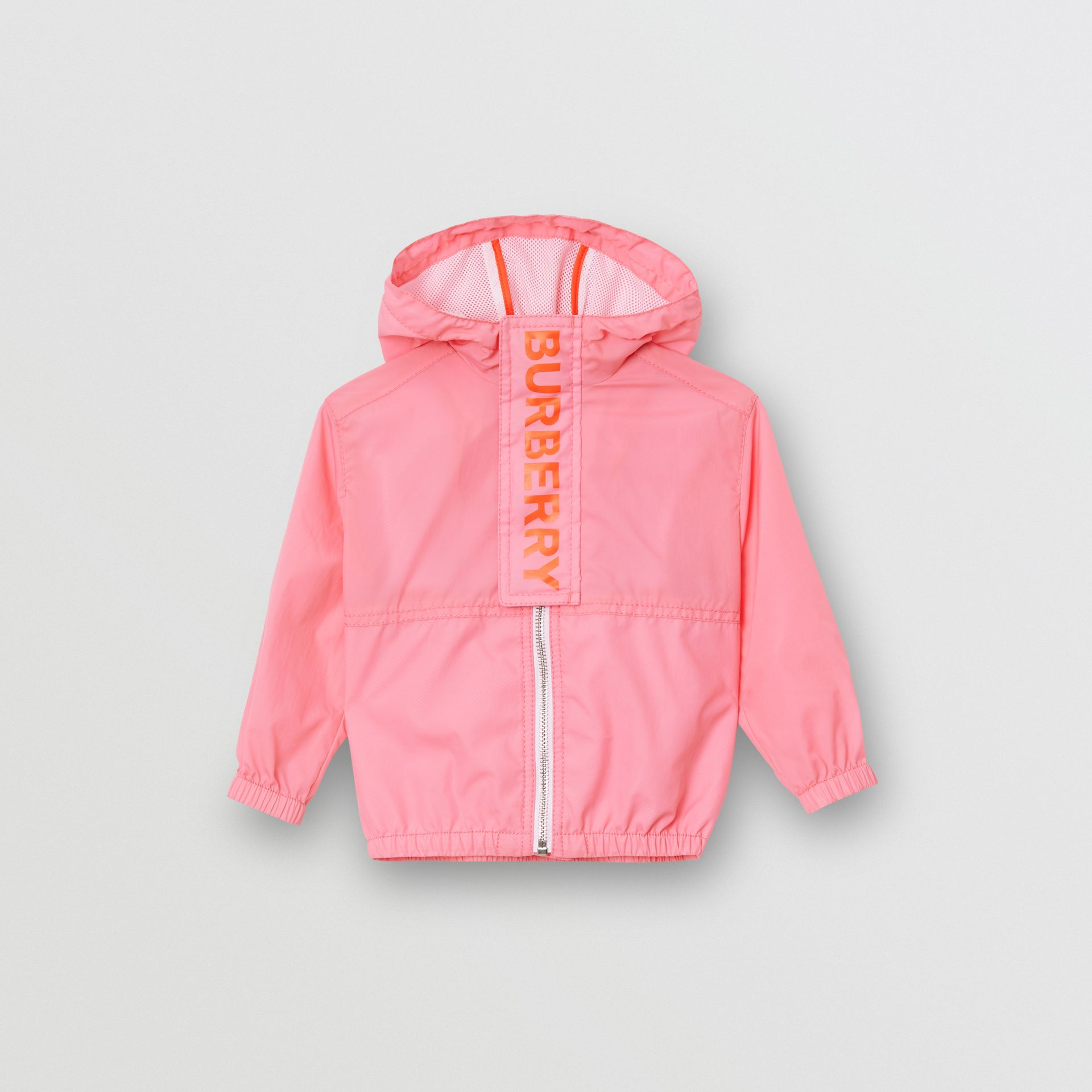 Logo Print Lightweight Hooded Jacket in Bright Rose - Children | Burberry - gallery image 0