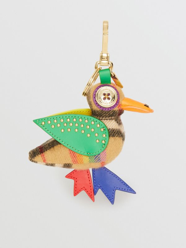 Barry The Duck Rainbow Vintage Check Charm in Multicolour/antique Yellow | Burberry United Kingdom - cell image 3