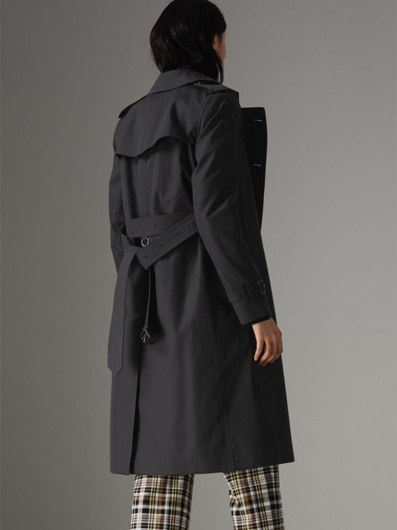 The Long Kensington Heritage Trench Coat in Midnight - Women | Burberry Singapore - cell image 2