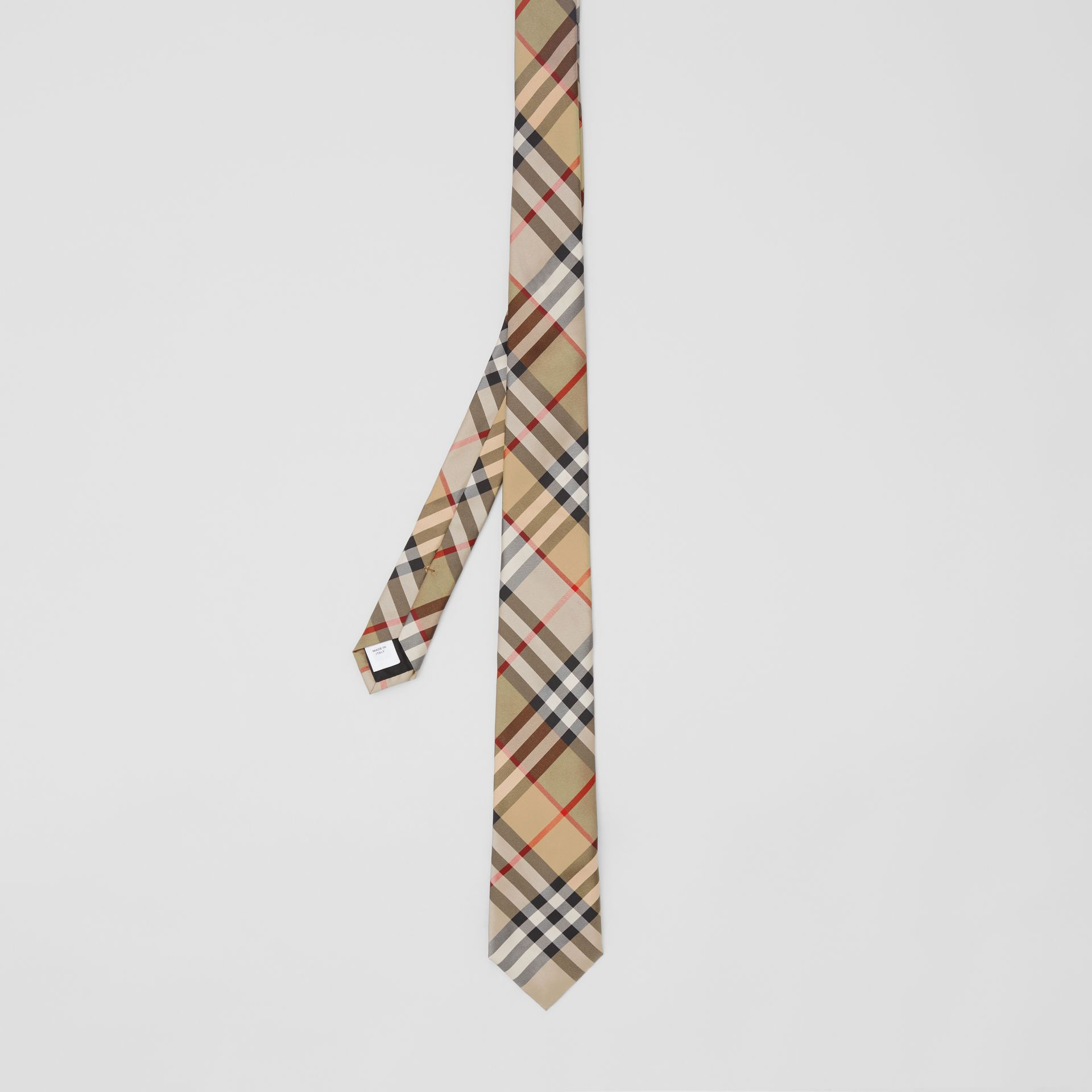 Classic Cut Vintage Check Silk Twill Tie in Archive Beige - Men | Burberry United Kingdom - gallery image 4