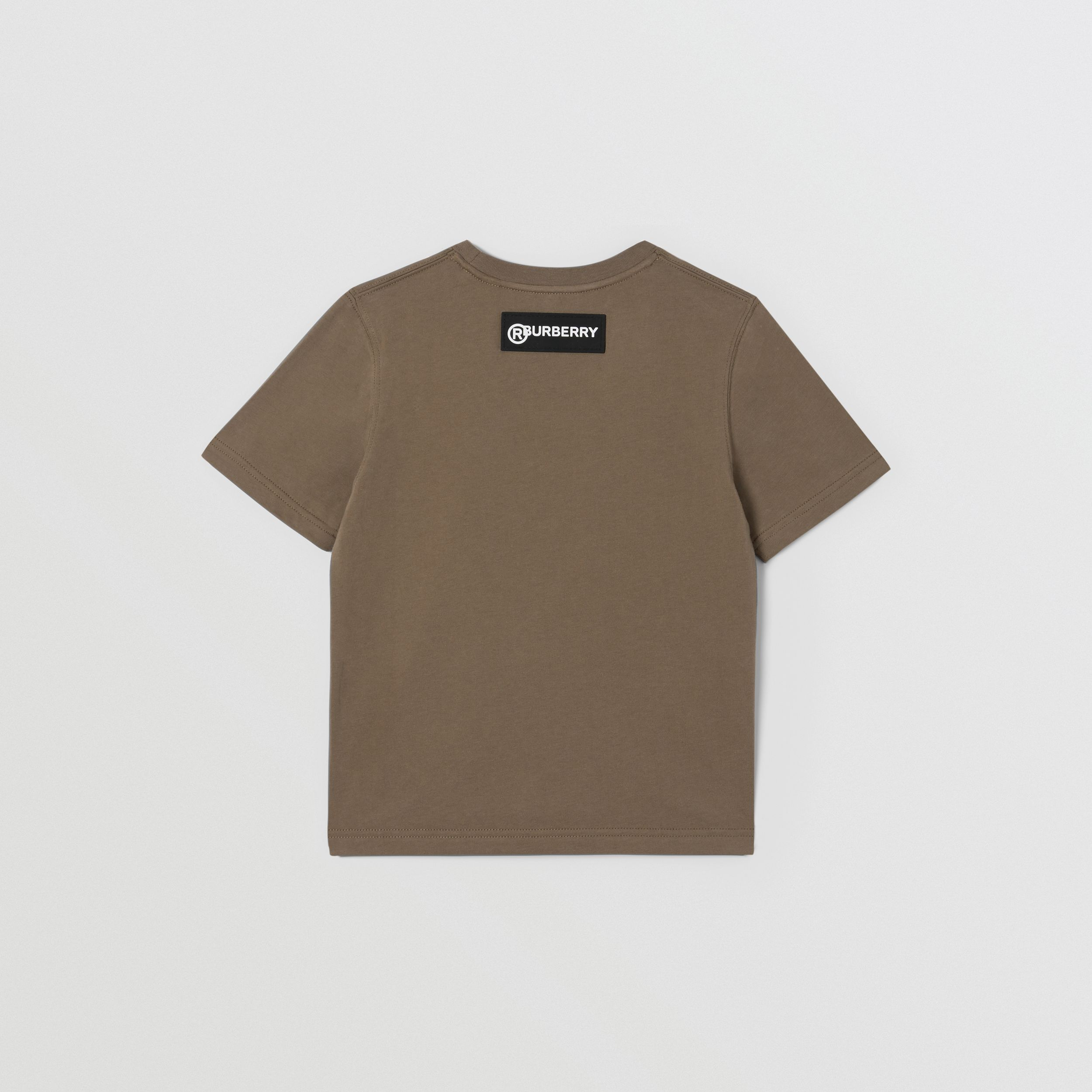 Logo Graphic Print Cotton T-shirt in Smoke | Burberry - 4