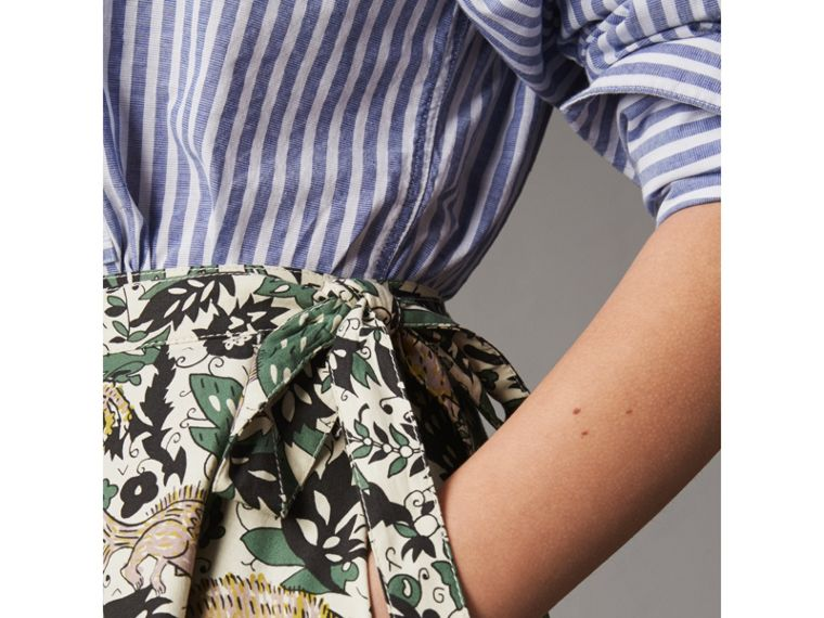 Beasts Print Cotton Wrap Skirt - Women | Burberry - cell image 1