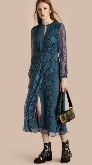 Python Print Silk Dress
