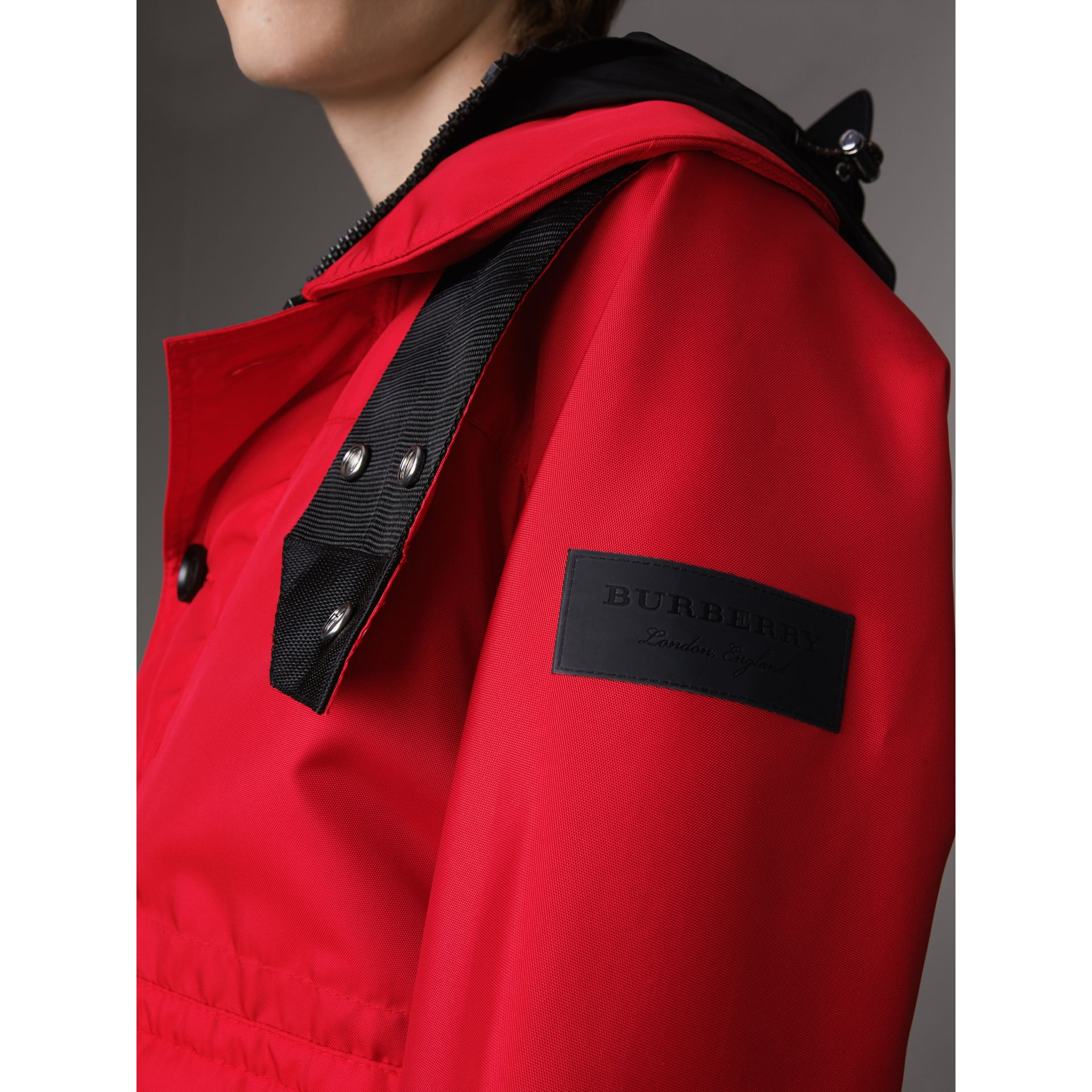 Nylon Canvas Deck Jacket with Detachable Warmer in Military Red - Men | Burberry - gallery image 2