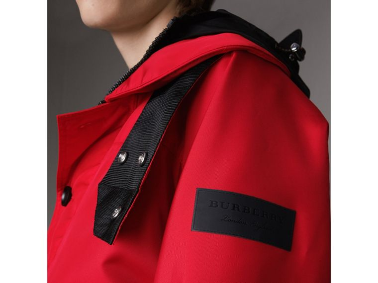 Nylon Canvas Deck Jacket with Detachable Warmer in Military Red - Men | Burberry - cell image 1