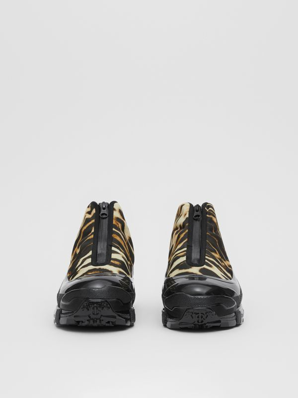 Leopard Print Nylon and Suede Arthur Sneakers in Camel | Burberry - cell image 3