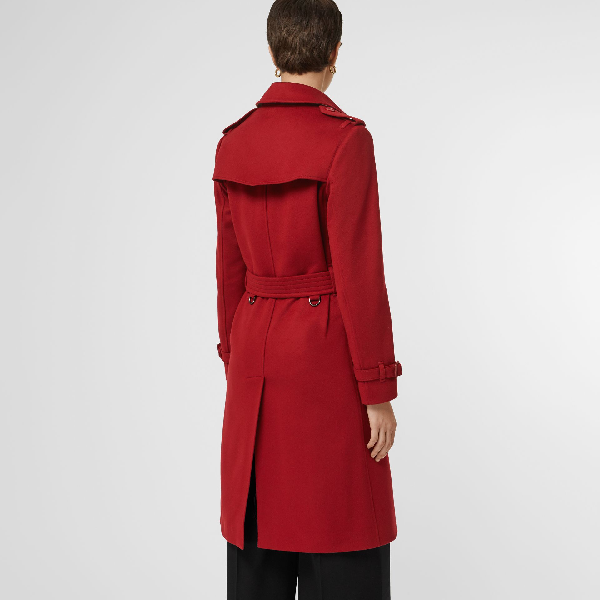 Cashmere Trench Coat in Red - Women | Burberry United Kingdom - gallery image 2