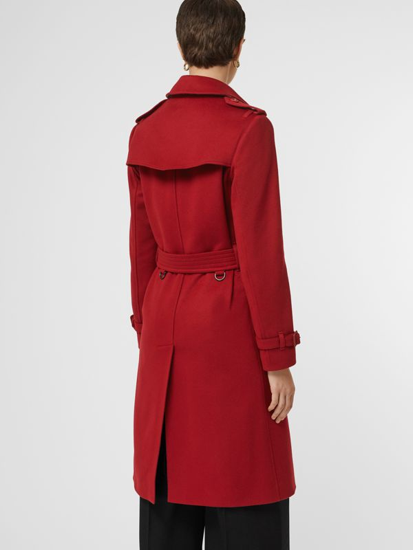 Cashmere Trench Coat in Red - Women | Burberry United Kingdom - cell image 2