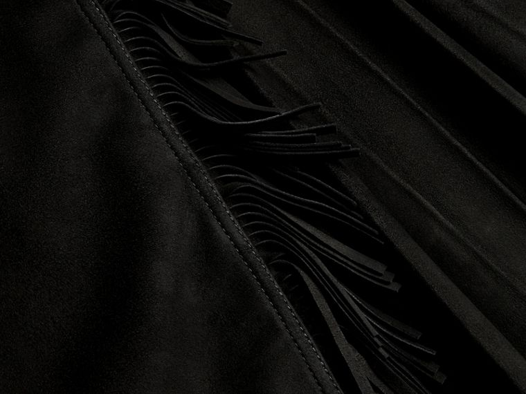 Black Fringed Suede Kilt - cell image 1