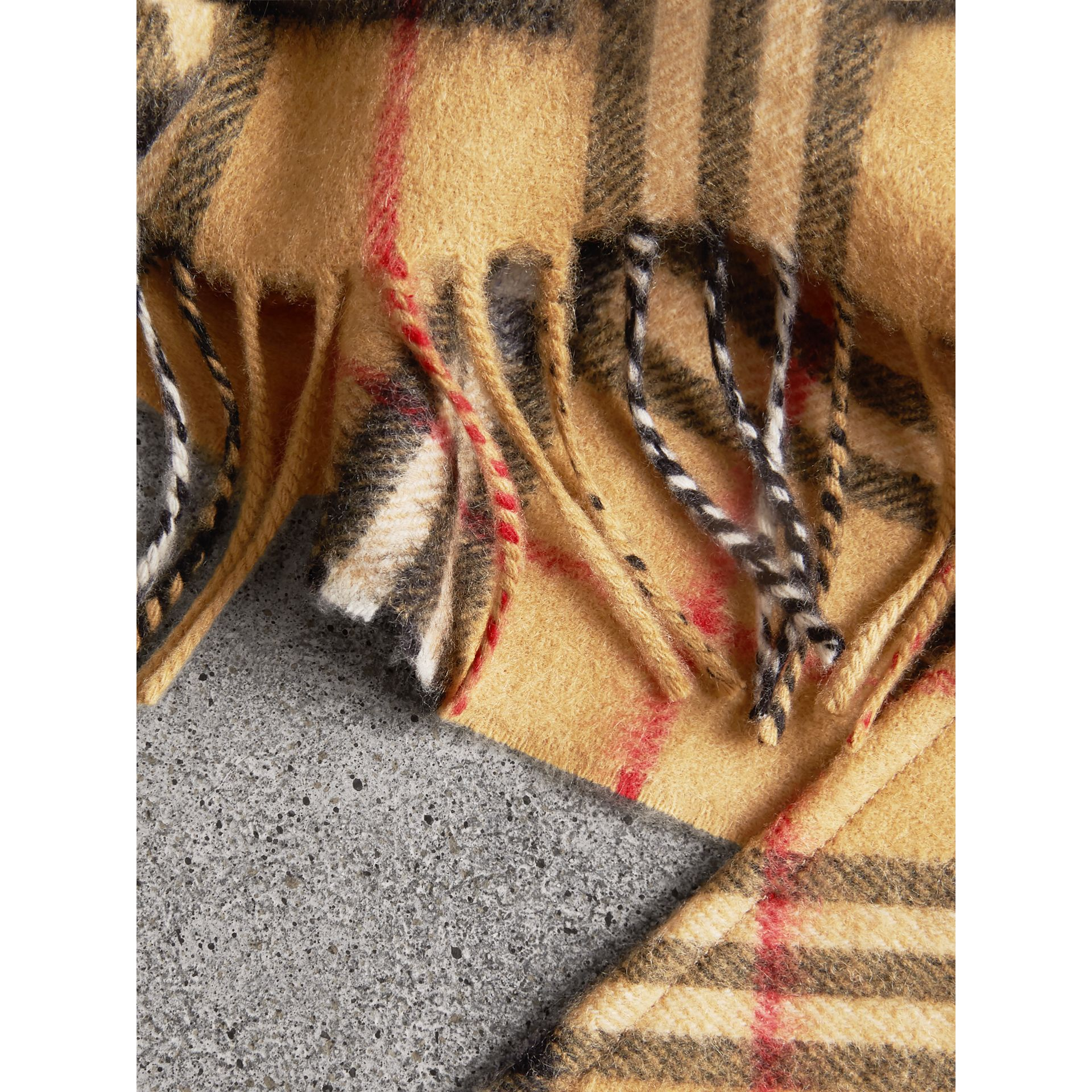 The Burberry Bandana in Vintage Check Cashmere in Antique Yellow | Burberry United Kingdom - gallery image 1