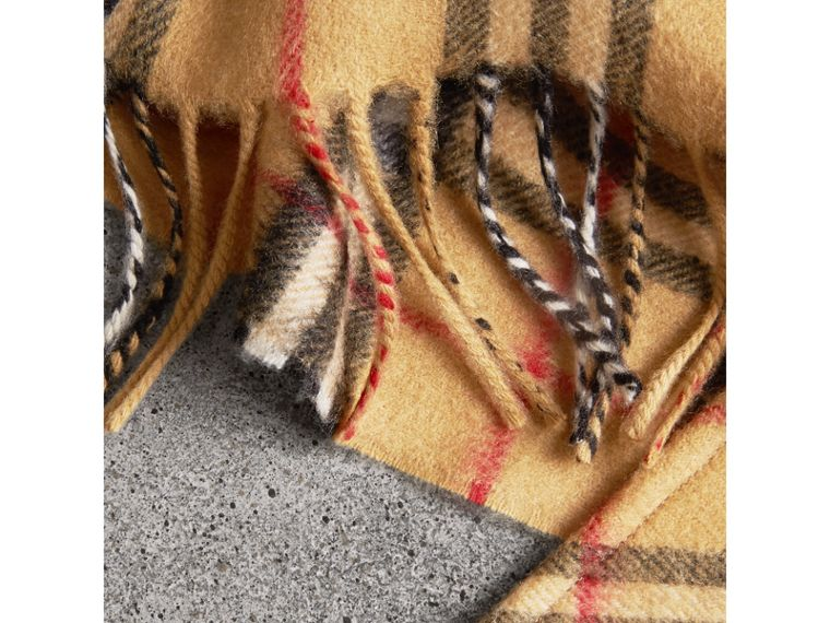 The Burberry Bandana in Vintage Check Cashmere in Antique Yellow | Burberry United Kingdom - cell image 1